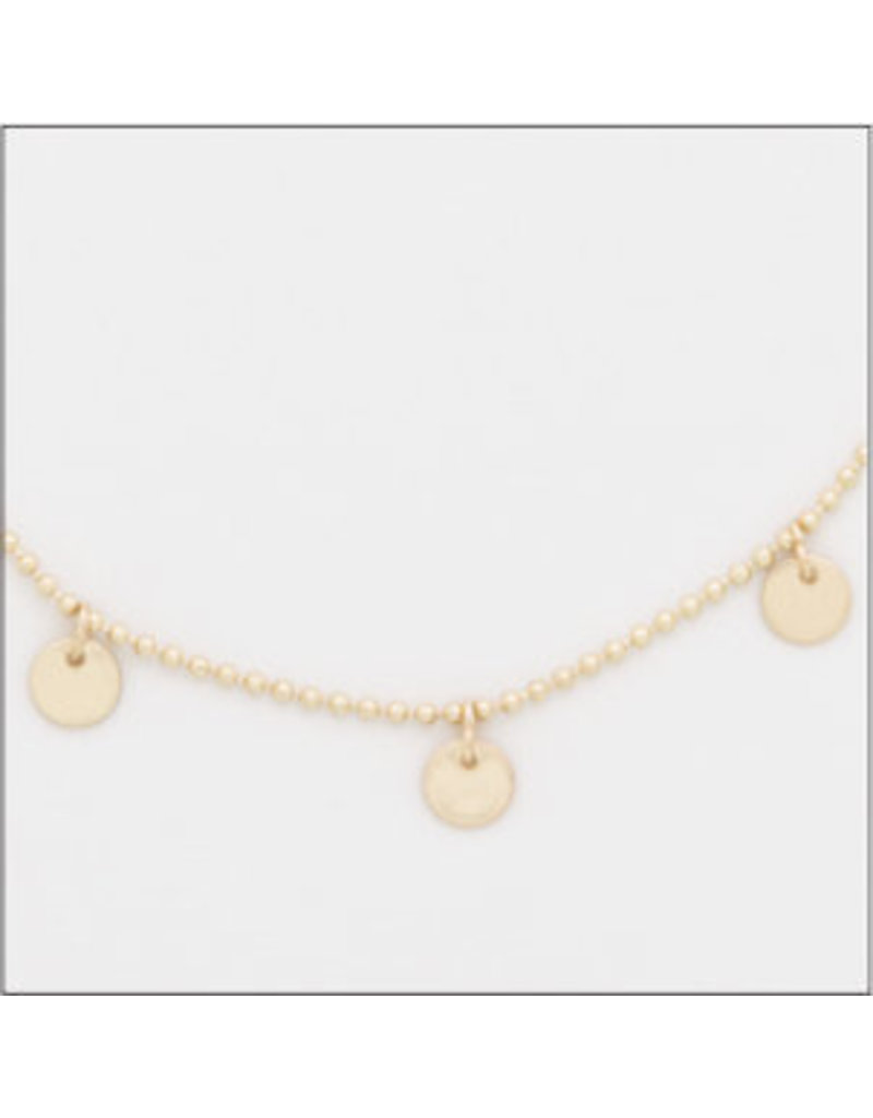 Center Court Layers Necklace-Gold Flat Disc