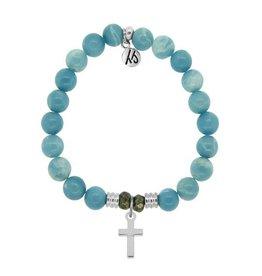 Tiffany Jazelle Core Collection Bracelet, Cross -Sky Agate