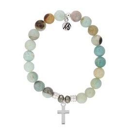 Tiffany Jazelle Core Collection Bracelet, Cross - Amazonite