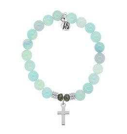 Tiffany Jazelle Core Collection Bracelet, Cross - Aqua Agate