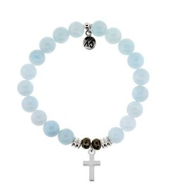 Tiffany Jazelle Core Collection, Cross - Blue Aquamarine