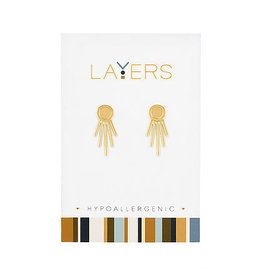 Center Court Layers-Gold Starburst Ear Jacket Earrings