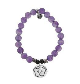 Tiffany Jazelle Core Collection Bracelet, Amethyst- baby Feet