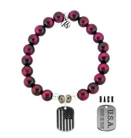 Tiffany Jazelle Core Collection, Support Our Troops, Pink Tigers Eye