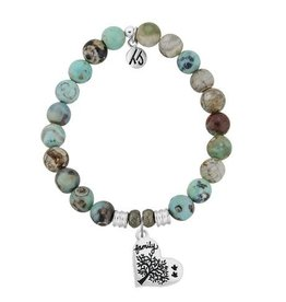 Tiffany Jazelle Core Collection Bracelet, Turquoise Jasper, Family Tree