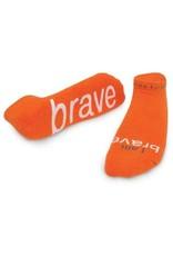 Note To Self Socks Low Cut-I Am Brave, Orange