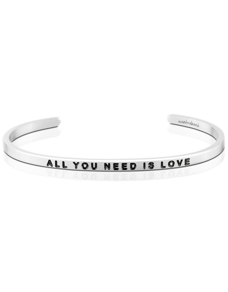 Mantraband All You Need is Love, Silver
