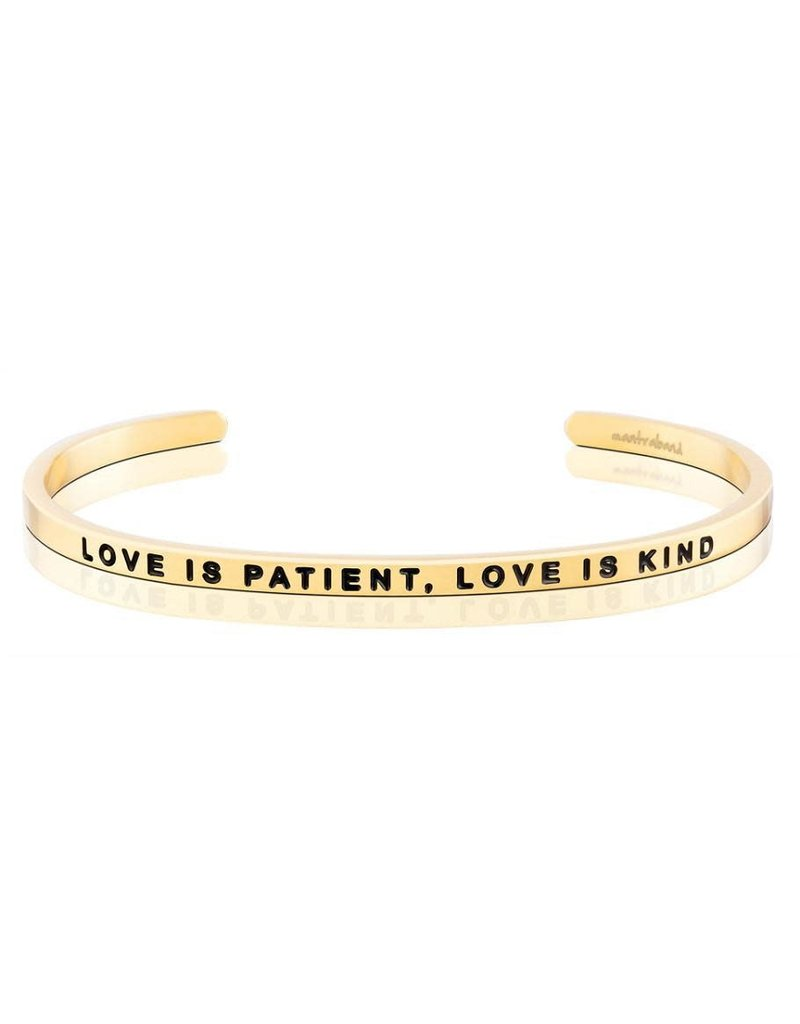 Mantraband Love is Patient, Love is Kind, Gold