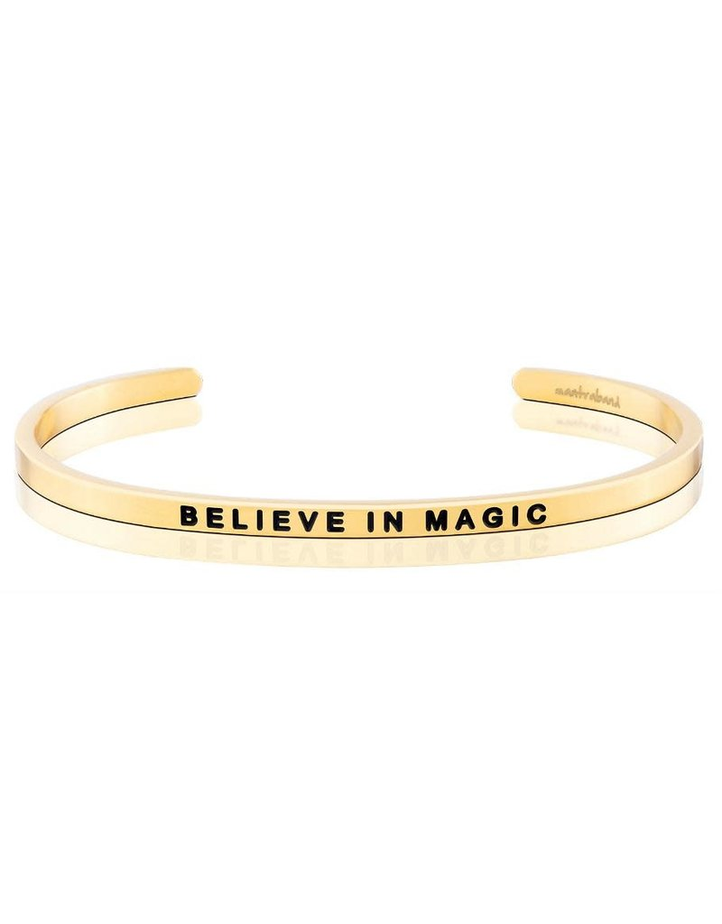 Mantraband Believe in Magic Charity Band, Gold