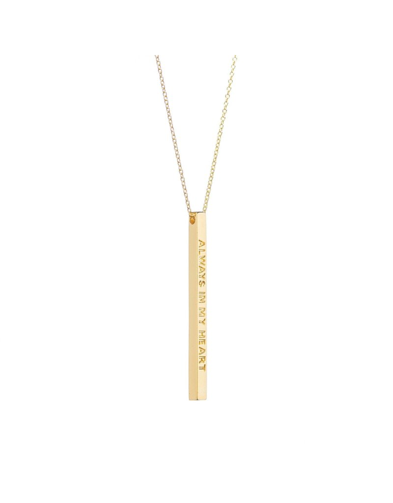 Mantraband Always In My Heart Necklace, Gold
