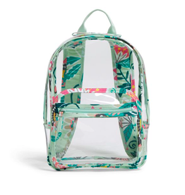 Vera Bradley Clearly Colorful Stadium Backpack Mint Flowers