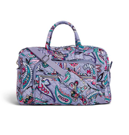 Vera Bradley Iconic Compact Weekender Travel Bag Makani Paisley