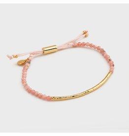 Gorjana Power Gemstone Bracelet, Rhodochrosite, Compassion, Gold