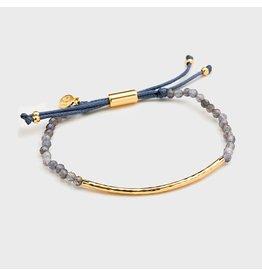 Gorjana Power Gemstone Bracelet, Focus, Iolite, Gold