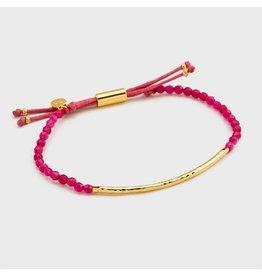 Gorjana Power Gemstone Bracelet, Dream, Pink Jade, Gold