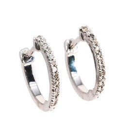Ella Stein Half-Hearted Adventure? Never! Mini Hoop Earrings - Silver