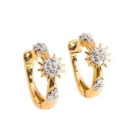 Ella Stein Star of the Show Mini Hoop Earrings - Gold