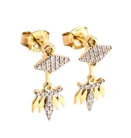 Ella Stein Rumba With Me Earrings - Gold