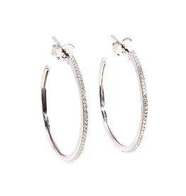Ella Stein Head Turning Medium Hoop Earrings - Silver
