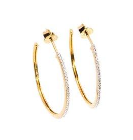 Ella Stein Head Turning Medium Hoop Earrings - Gold