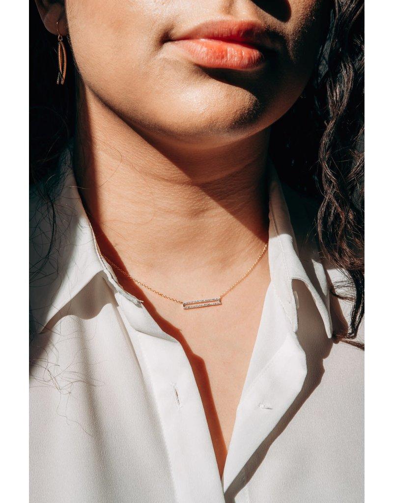 Ella Stein Set the Bar Necklace- Gold