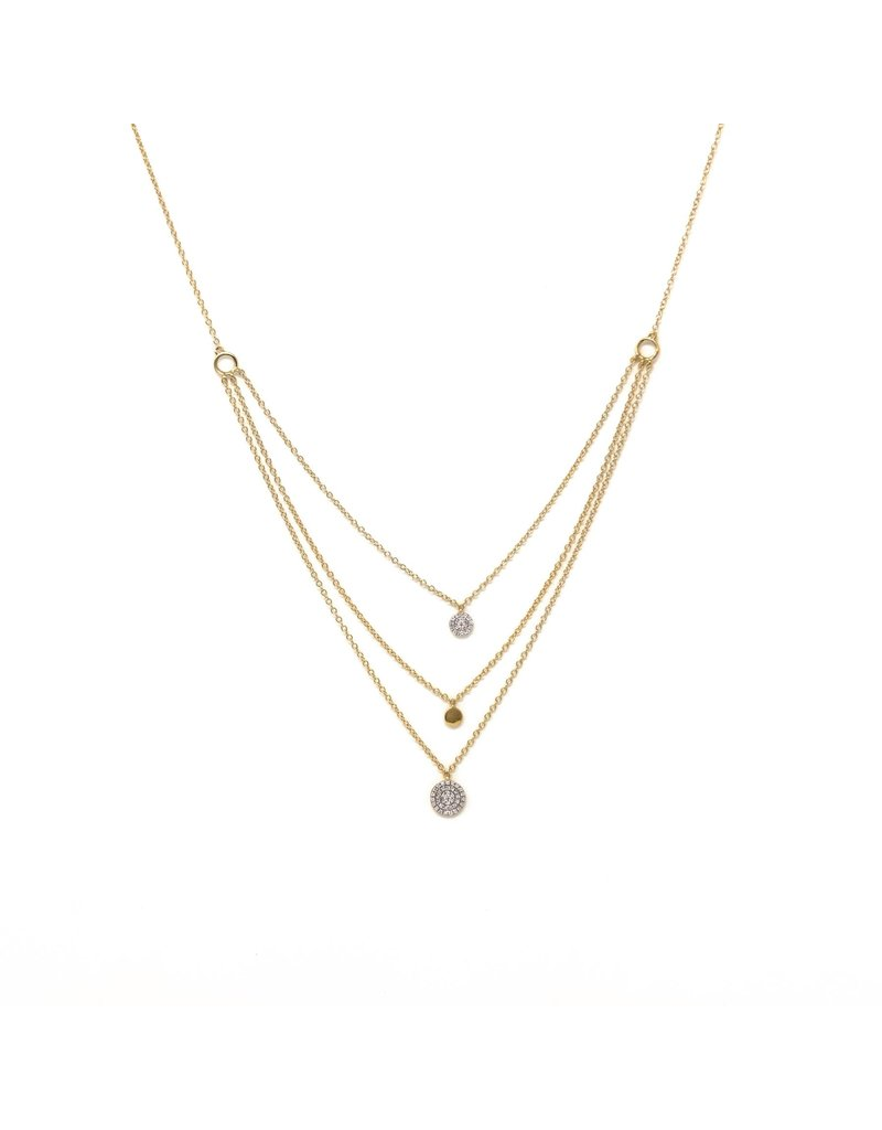Ella Stein Right Round Necklace - Gold