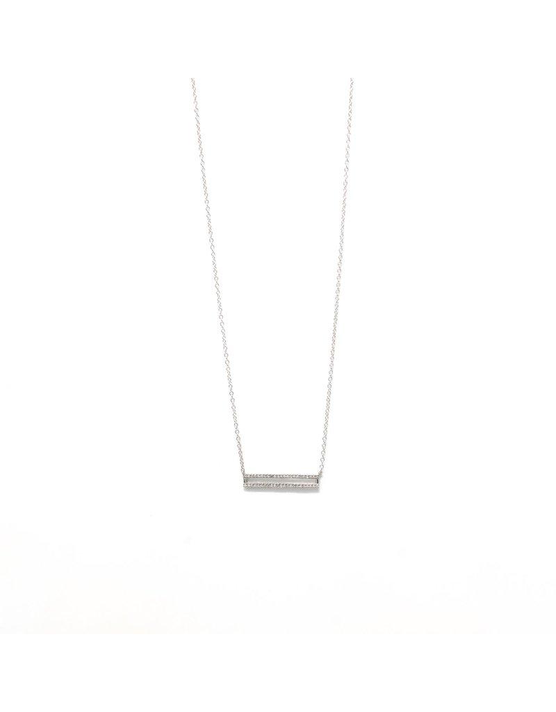 Ella Stein Set the Bar Necklace- Silver