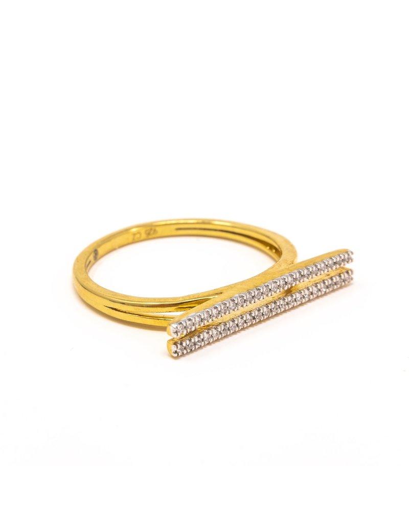 Ella Stein Set The Bar Ring, Gold