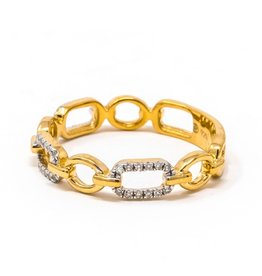 Ella Stein Linked Forever To You Ring, Gold