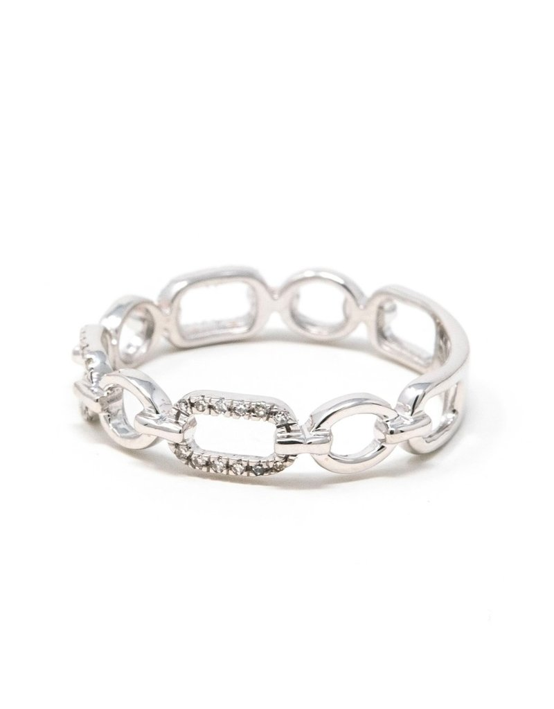 Ella Stein Linked Forever To You Ring, Silver