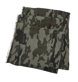 Mud Pie Icon Scarf Olive /Blue/ Gray Camo