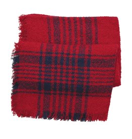 Mud Pie Boucle Square Scarf Red