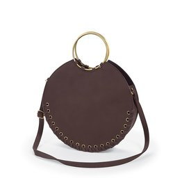 Mud Pie LG Circle Tote - Ox Blood