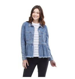 Mud Pie Banks Jacket, Denim Blue