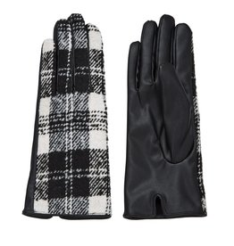 Mud Pie Plaid Gloves White