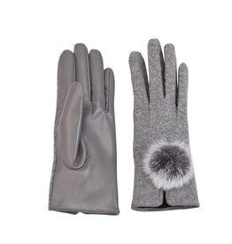 Mud Pie Poof Gloves - Gray