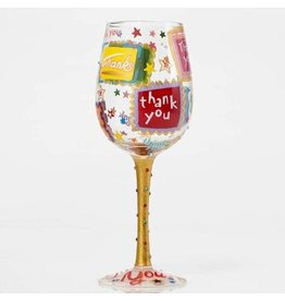 Lolita Thank You, Thank You Wine Glass