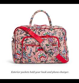 Vera Bradley Iconic Weekender Travel Bag Stitched Flowers