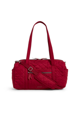 Vera Bradley Iconic Small Travel Duffel Berry Red