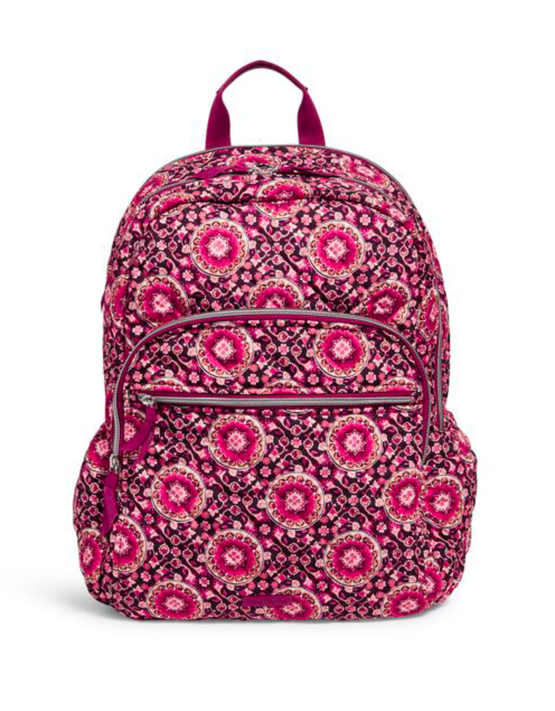Vera Bradley Iconic Campus Backpack Raspberry Medallion