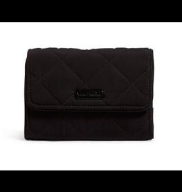 Vera Bradley Iconic RFID Riley Compact Wallet Black