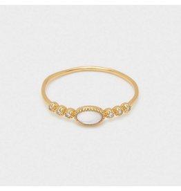 Gorjana Eloise Gem Ring Gold, Mother of Pearl