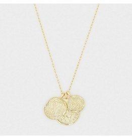 Gorjana Ana Coin Pendant Necklace Gold
