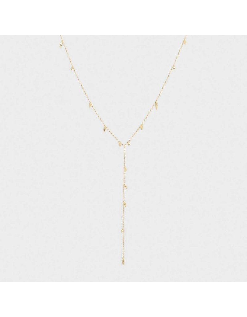 Gorjana Willow Lariat Gold