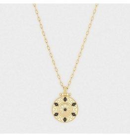 Gorjana Alessandra Necklace Gold- Black Nanogem