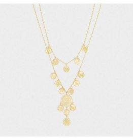 Gorjana Ana Coin Layered Necklace Gold
