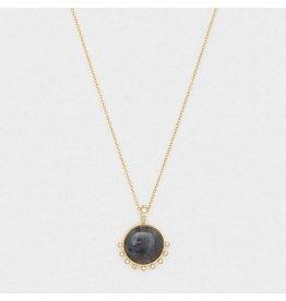Gorjana Eloise Gem Necklace Gold- Black Labradorite