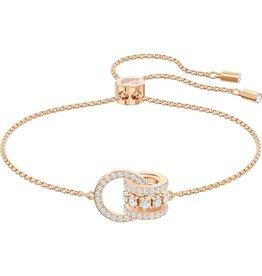 Swarovski Further Bracelet, White, Rose Gold Plated