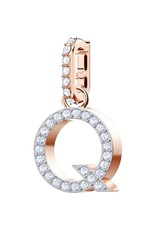 Swarovski Q Alphabet Charm, Crystal and Rose Gold