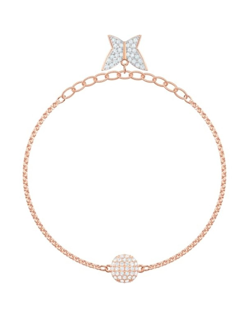 Swarovski Remix: Lilia Strand, White, Rose Gold Plated (M)